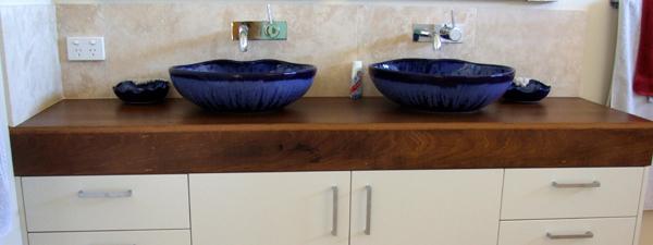 Blue bowl bathroom
